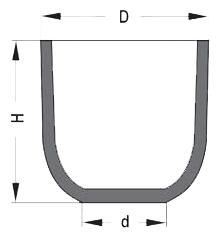 Тигель формы B – одни из самых распространенных многоразовых плавильных чашей